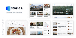 Stories – Personal Blog HTML Template