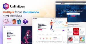 Unlimitcon – Multiple Event, Conference HTML Template.