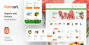 Farmart – Organic Marketplace eCommerce HTML Template