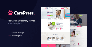 CarePress – Pet Care & Veterinary Shop HTML Template