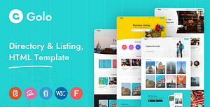 Golo – Directory & Listing HTML Template