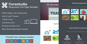 CoreStudio – Responsive One Page HTML5 Template