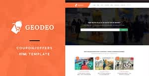 Geodeo – Coupon & Deals HTML Template