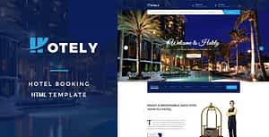 Hotely – Hotel Booking & Travel HTML Template