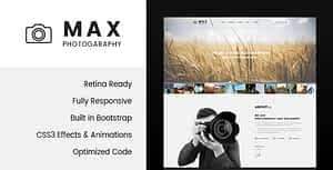 Max Photography – Photographer HTML Template