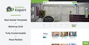Property Expert – Real Estate PSD Template