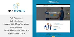 Max Movers – Responsive HTML Template