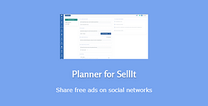 Planner for SellIt – create and share automatically free ads… – PHP Script