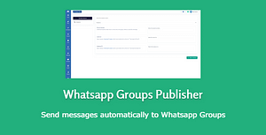 Whatsapp Groups Publisher – send and receive messages – PHP Script