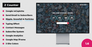 Z Counter – Coming Soon Countdown with Admin Panel – PHP Script
