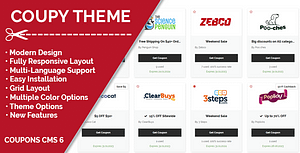 Coupy Theme for Coupons CMS – PHP Script