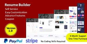 Resume Builder – Build Your Resume & Sell Your Service – PHP Script