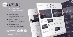 Apemag – Stylish WordPress Theme Magazine with Review System
