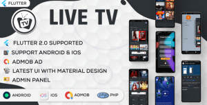 Online Movie and Live TV with Admin Panel | Flutter App | Ad… – PHP Script