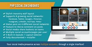 PHP Social Dashboard – PHP Script