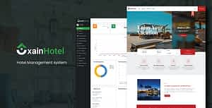 Xain – Hotel Management System with Website – PHP Script