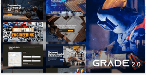 Grade 2.0 – Manufacturing and Industrial WordPress Theme