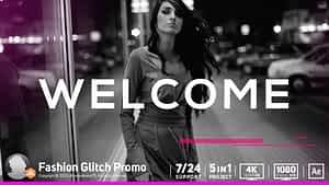 Fashion Glitch Promo | After Effects Project