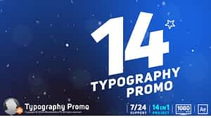 Typography Promo / Stomp After Effects Project