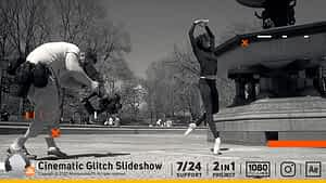Cinematic Glitch Slideshow After Effects Project