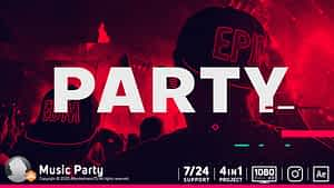 Music Party | After Effects Project