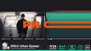 Glitch Urban Opener After Effects Project
