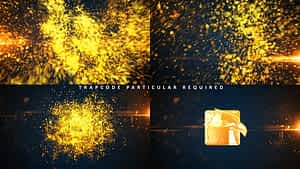 Glowing Particle Logo Reveal 16 : Golden Particles 04 After Effects Project