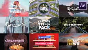 Cartoon Titles Pack   After Effects Template   After Effects Project