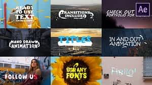 2d Lyric Titles | After Effects Template | After Effects Project