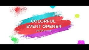 Colorful Event Opener  | After Effects Template After Effects Project