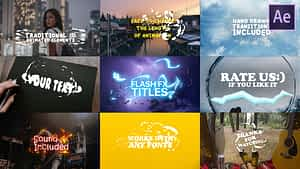 Cartoon Lyric Titles  After Effects Template   After Effects Project