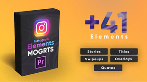 Instagram Elements Pack-MOGRT | After Effects Project