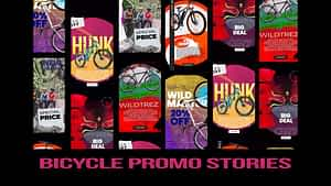 Bicycle promo stories instagram | After Effects Project