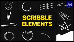 Scribble Elements 02 | After Effects | After Effects Project
