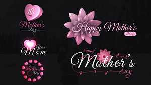 Mothers Day Sweet Titles | After Effects Project