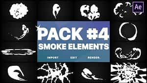 Smoke Elements Pack 04 | After Effects | After Effects Project