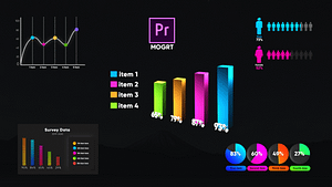 Infographic Smart Graphs-MOGRT | After Effects Project