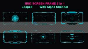 HUD Screen Frame 6in1 | After Effects Project