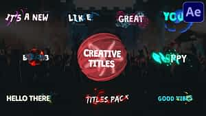Creative Cartoon Titles | After Effects | After Effects Project