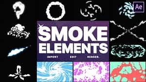 Smoke Elements Pack 06 | After Effects | After Effects Project