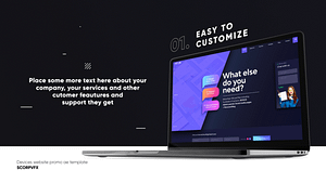Dark Website Promo Mockup   After Effects Project
