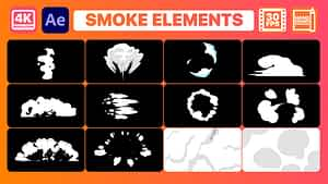 Smoke Elements And Titles | After Effects | After Effects Project