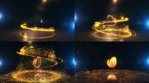 Glowing Particle Logo Reveal 25 : Golden Particles 07 After Effects Project