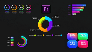 Infographic Graphs Toolkit-MOGRT | After Effects Project