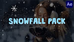 Cartoon Snowfall | After Effects | After Effects Project