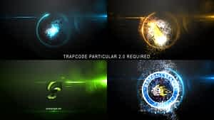 Glowing Particle Logo Reveal 24 After Effects Project