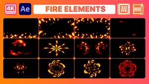 Fire Elements And Backgrounds | After Effects | After Effects Project