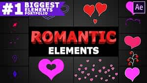 Romantic Elements   After Effects   After Effects Project