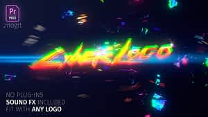 Glitch Cyber Logo Mogrt After Effects Project