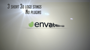 3D Organic Logo Sting After Effects Project
